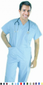 Unisex Scrubs - 6 Pocket Solid Scrub Set And 1 Pencil Pocket.