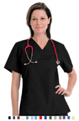 Basic Medical Scrubs - Women - Solid 1 Pocket Scrub Set.
