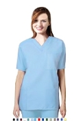 Unisex Scrubs - 9 Pocket Solid Scrub Set.