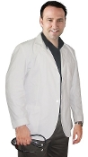 Men's Twill Fabric Consultation Lab Coat.