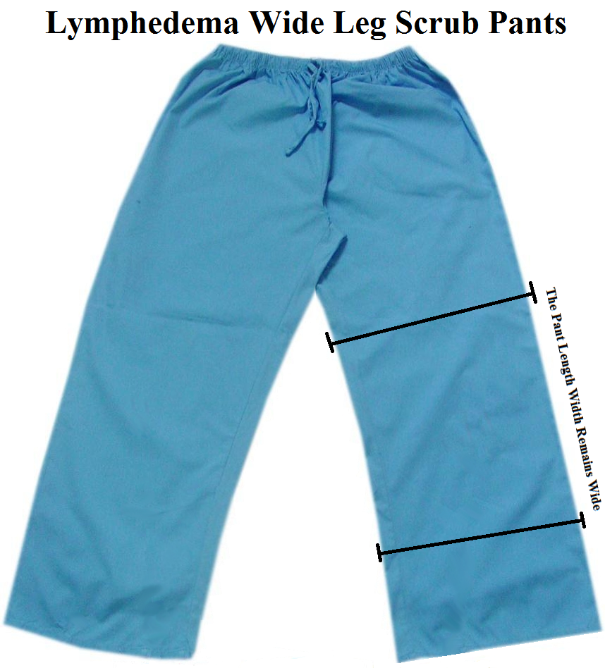 Lymphedema Scrub Pants - Wide Leg Scrubs
