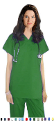 Unisex Scrubs - Solid Scrub Set With 4 Pockets.