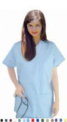 V Neck 3 Pocket Scrub Top.