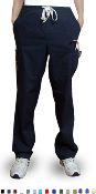 Unisex Medical Scrubs - 6 Pocket Cargo Half Elasticated Scrub Pants.