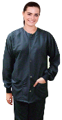 Medical Scrubs Jacket - Unisex - Microfiber 2 Pocket Scrub Jacket.
