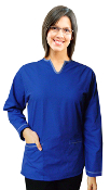 Women's Fashion Long Sleeved Scrub Top.