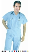Unisex Scrubs - 6 Pocket Solid Scrub Set.