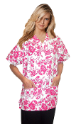 Scrub Print Of The Month - Hot Pink Flowers Print Scrubs