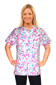 Scrub Print Of The Month - Winter Flowers Print Scrubs