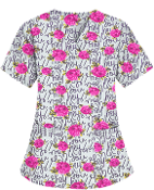 Scrub Print Of The Month - February Flowers Print Scrubs