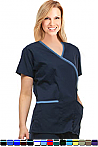 Crossover 2 Pocket Solid Scrub Top.