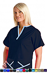 Women's 2 Pocket Y Neck Style Scrub Top.