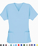 Basic Medical Scrubs - Women - 2 Pocket Scrub Top With Pencil Pocket.