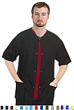 Unisex Scrubs - Solid 3 Pocket Short Sleeve Scrub Jacket.
